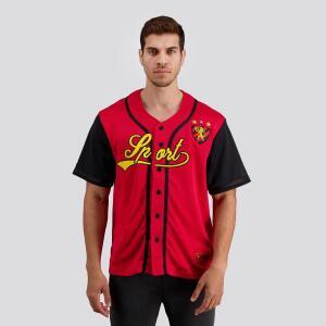 89% Off Camisa Baseball Sport Vermelha