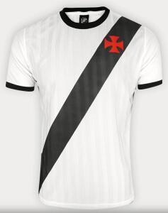 Camisa Retrô Vasco Edição Limitada Masculina - Branco e Preto