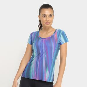 Camiseta Memo Full Print Feminina - Azul e Pink R$34