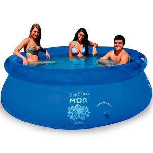Piscina Inflável Redonda 2400 Litros Plástico Splash Fun MOR
