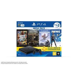 [R$1699.00 C.Sub] Console PS4 1TB + 3 Jogos + Voucher Fortnite + Controle DualShock 4 Bundle Hits 6 - Sony