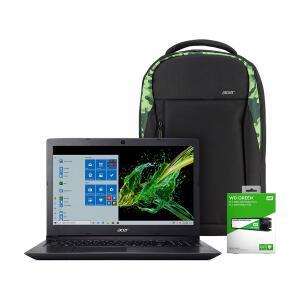 Notebook Aspire + SSD 240GB + Mochila Camuflada