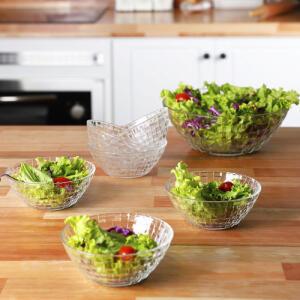 Conjunto De Saladeira De Vidro Rattan 7 Peças - La Cuisine R$ 40