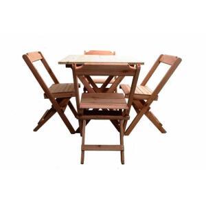 Conjunto 4 Cadeiras E 1 Mesa 70 X 70 - Madeira R$ 150