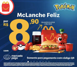 Mc Lanche Feliz por R$8,90