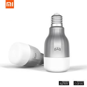 Xiaomi Mi Yeelight 9W RGB E27 LED sem Fio WIFI Controle Bulbo de Lâmpada Inteligente AC220V   R$74