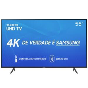 """Smart TV Samsung 55"""" UHD 4K 2019 UN55RU7100GXZD HDR Design Premium Tizen Wi-Fi R$2.069"""