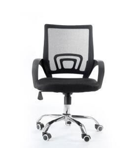 APP - Cadeira Giratória com base cromada - Preta [135,90 com AME]