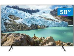 """Smart TV 4K LED 58"""" Samsung UN58RU7100 - Wi-Fi HDR 3 HDMI 2 USB R$ 2374"""