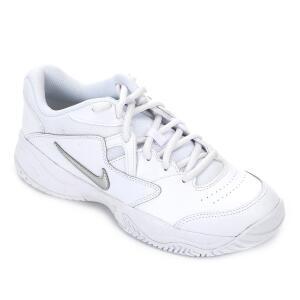 Tênis Nike Court Lite 2 Feminino - Branco e prata