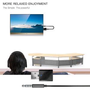 Transmissor e Receptor Bluetooth 5.0 - Para Tv, Radio, Pc e etc R$40