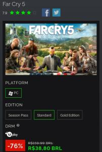Far Cry 5 PC - Uplay Key