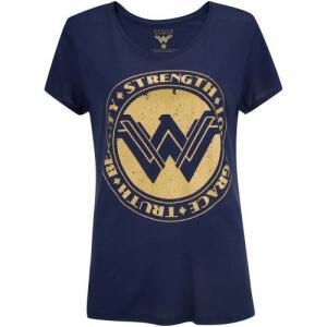 Camiseta Liga da Justiça Mulher-Maravilha Força - Feminina