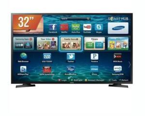 (02/02/20 às 9:00) Smart TV LED 32´ Samsung, 2 HDMI, USB, Wi-Fi - LH32BENELGA/ZD