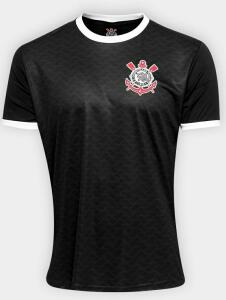 Camisa Corinthians Libertados Masculina - Preto | Netshoes