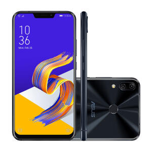 "Smartphone Asus Zenfone 5Z 64GB Preto 4G Tela 6.2"" Câmera 12MP - R$1599"