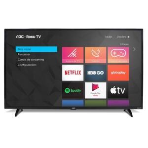 "Smart TV 32"" HD AOC RokuTV 32S5195/78G   R$899"