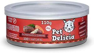 (PRIME)Ração Úmida para gatos Pet Delicia 110g sabor carne R$2,42(comprando 5 unidades)
