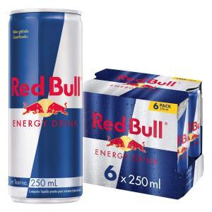 Leve 5 unidades Red Bull Energy Drink Pack com 6 Latas de 250ml R$ 157