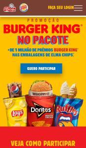 Promoção Compre Elma Chips ganhe Burger King