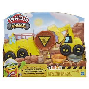 [Prime] Conjunto Escavadeira e Carregadeira, Play-Doh, E4294, Multicor R$ 55