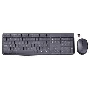 Teclado e Mouse sem Fio MK235 Logitech Preto R$ 95