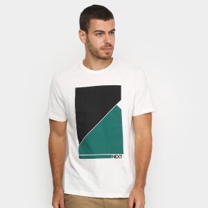 Camiseta Burn Next Masculina - Off White R$ 17