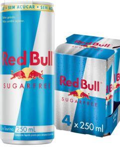5 caixa Energético sem Açúcar Red Bull Energy Drink Pack com 4 Latas de 250ml