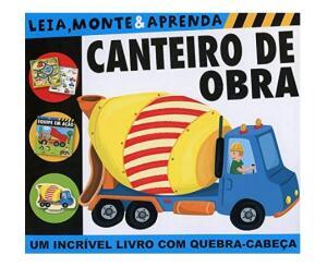 Livro + Quebra Cabeça - Canteiro de obra: leia, monte e aprenda (Português) Capa dura