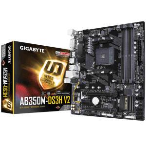 PLACA MÃE GIGABYTE AB350M-DS3H V2 LED AMD 9MAB35HV2-00-11, Gigabyte, 9MAB35HV2-00-11