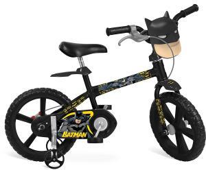 "Bicicleta 14"" Batman Bandeirante Preto R$ 374"
