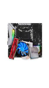 Kit Upgrade Placa Mãe ASRock B450M Steel Legend + AMD Ryzen 7 2700 + 8 GB Ram