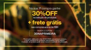 [Primeira Compra ]30% OFF + Frete Grátis em seleção de itens
