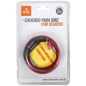 Cadeado para Bike com Segredo - Acte Sports - A21