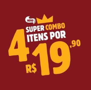 Burger King - 4 itens por R$19,90