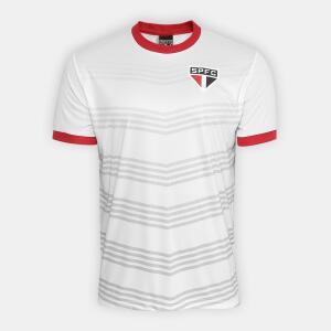 03 Camisetas São Paulo Hank Masculina - Branco e Vermelho