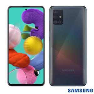 Smartphone Samsung Galaxy A51 Preto 128GB, Tela Infinita de 6.5