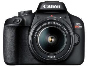 [Clube Da Lu + APP] Câmera Digital Canon Semiprofissional - EOS Rebel T100 | R$1.040