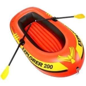 Bote Inflável Explorer 200 Intex 2 Pessoas Até 95kg + Remo + Bomba