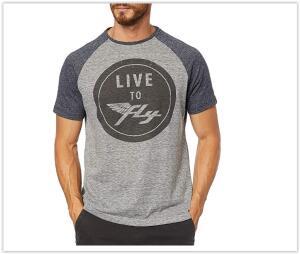 Camiseta Estampa Live to Fly, Taco, Masculino R$ 35