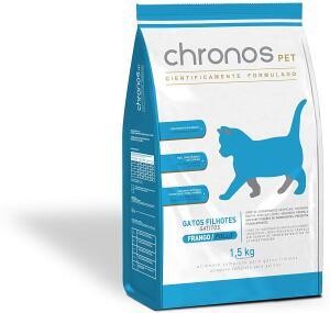 Ração Chronos Pet Super Premium Filhotes para Gatos Filhores Sabor Frango 500g