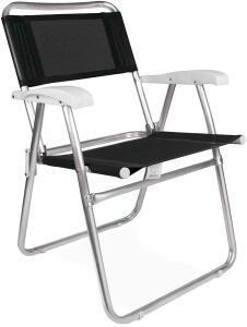 Cadeira Master Alumínio Tela Sannet Preta Mor [Prime]