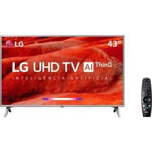 "[R$1430 com Ame] Smart TV LED 43"" LG 43UM7510PSB Ultra HD 4K Thinq AI Conversor Digital R$ 1510"