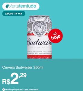 Cerveja Budwise 350 ml (R$ 2,29)