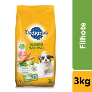 Ração Pedigree Equilíbrio Natural para Cães Filhotes 3kg