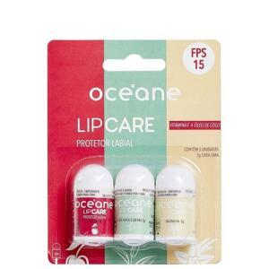 Kit Océane LipCare - Protetores Labiais 3x3g   R$25