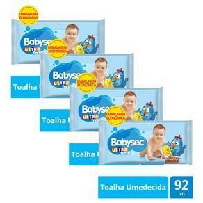 Toalha Umedecida Babysec Ultrafresh - Kit com 368 Unidades