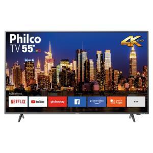 "[R$1664 AME+CC Americanas] Smart TV LED 55"" Philco PTV55F62SNT Ultra HD 4K | R$1.849"