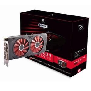 Placa de Vídeo VGA AMD XFX RADEON RX 570 4GB RS XXX ED OC+ DDR5 1284Mhz RX-570P4DFD6
