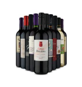Seleção de Kits de Vinhos com a garrafa por R$ 19